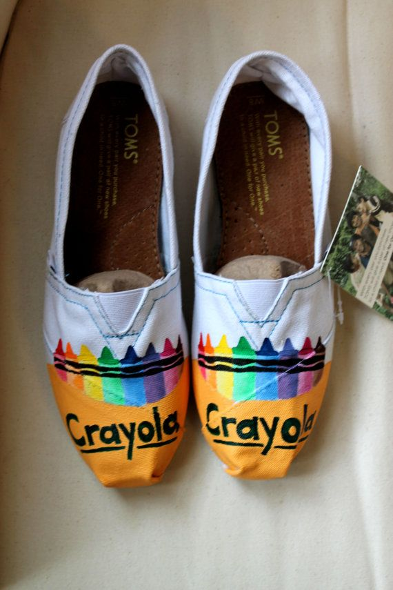 Crayola Crayon TOMS on Etsy, $85.00 Cute for back to school!