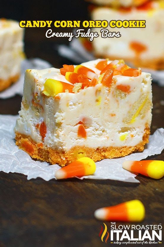 Candy Corn Oreo Cookies and Cream Fudge Bars | Fall ...