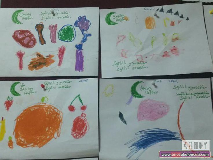 Yeşilay Haftası Sağlıklı Yiyecekler ve İçeceklerimiz - Önce Okul Öncesi Ekibi Forum Sitesi - Biz Bu İşi Biliyoruz