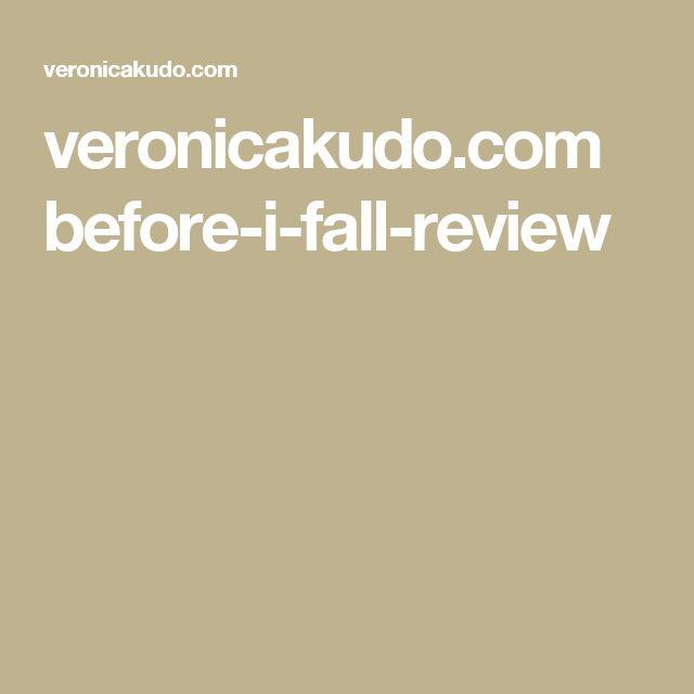 veronicakudo.com before-i-fall-review