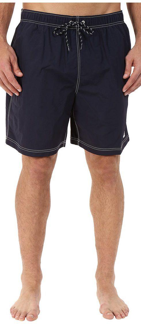 Nautica Big & Tall Big Tall Quick Dry J Class Swim Trunk (Navy) Men's Swimwear - Nautica Big & Tall, Big Tall Quick Dry J Class Swim Trunk, F44050-4NV, Apparel Bottom Swimwear, Swimwear, Bottom, Apparel, Clothes Clothing, Gift, - Fashion Ideas To Inspire