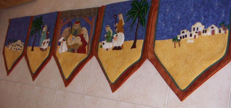 cenefa pesebre | patchwork christmas | Pinterest