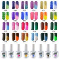 Temperature Chameleon Thermal Color Change UV LED Soak Off Gel Nail Polish 15ml
