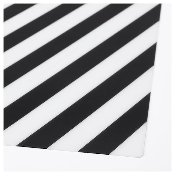 Pipig Place Mat Stripe Black White Ikea In 2021 Placemats Ikea Black And White