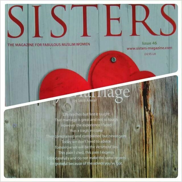 My Poem in Sisters Magazine, Issue 46