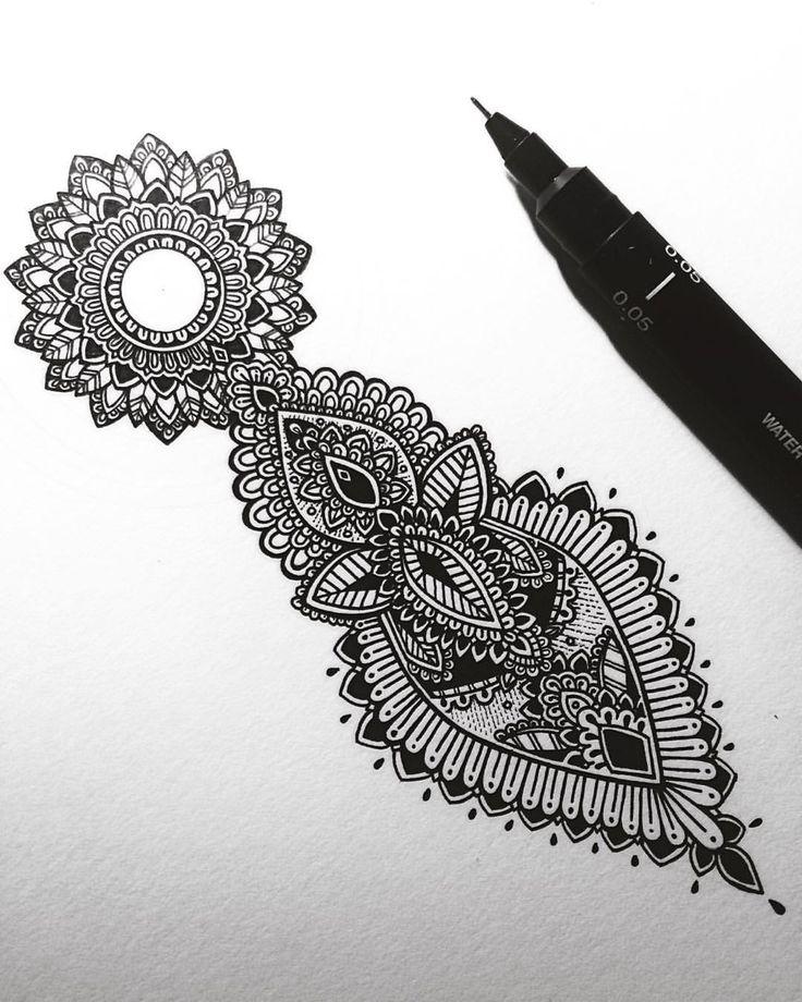 1000 ideas about mandala tattoo neck on pinterest neck. Black Bedroom Furniture Sets. Home Design Ideas