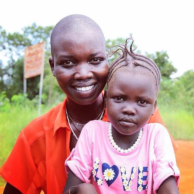 Fashion Model Nykhor Paul and her sister from South Sudan