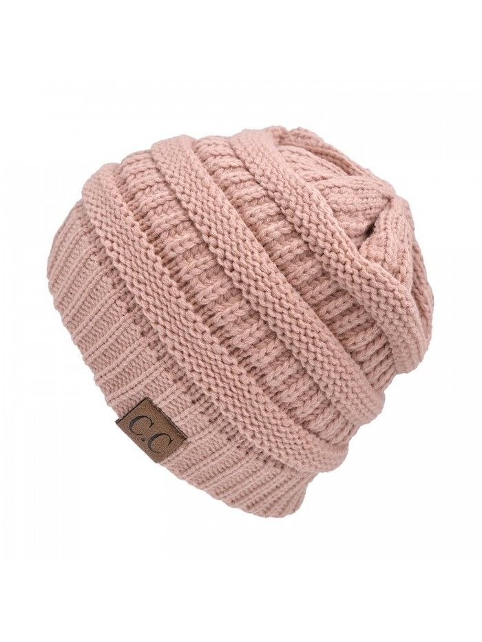 HUE21 Women's Sloutch Knit Beanie Hat – Rose Pink – CE11OXPR2IN