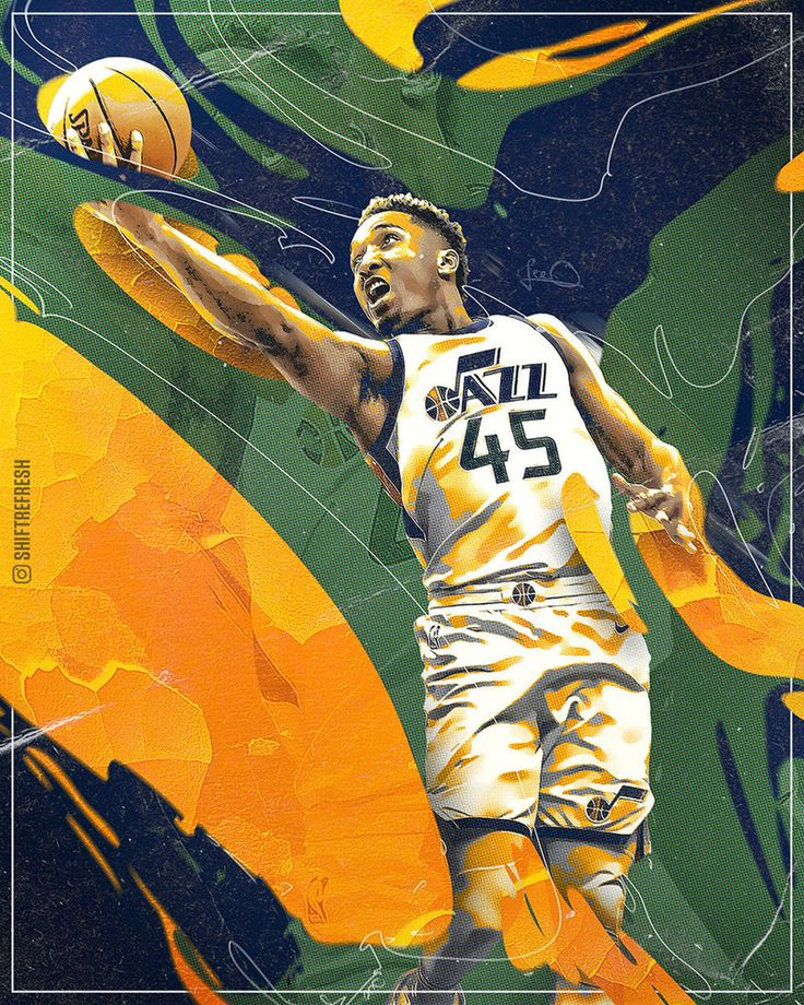Donovan Mitchell in the house! #TakeNote #NBAart ⭐ Check me out here: Instagram: instagram.com/shiftrefresh/ Twitter: twitter.com/shiftrefresh Facebook: www.facebook.com/le...