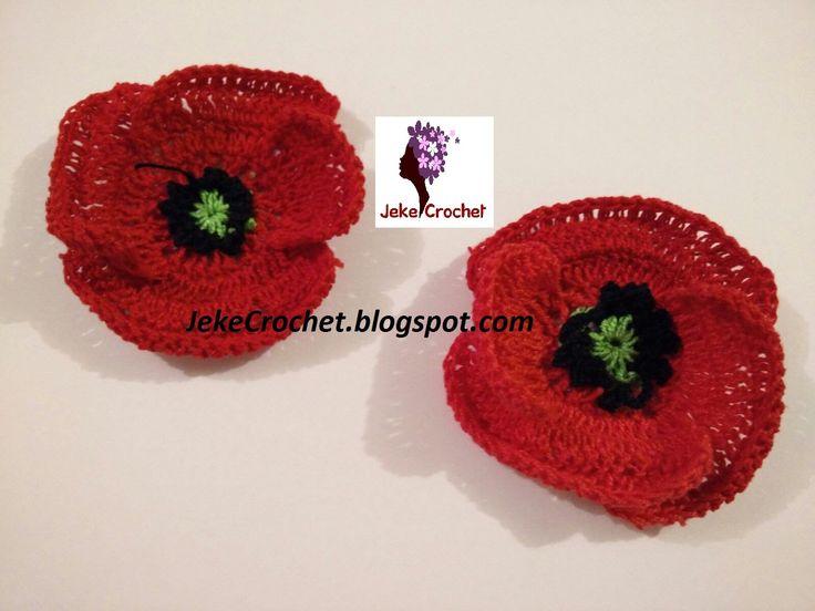 Amapola - Papavero - Poppy Flower (modelo 2) - Crochet- Ganchillo - Unci...