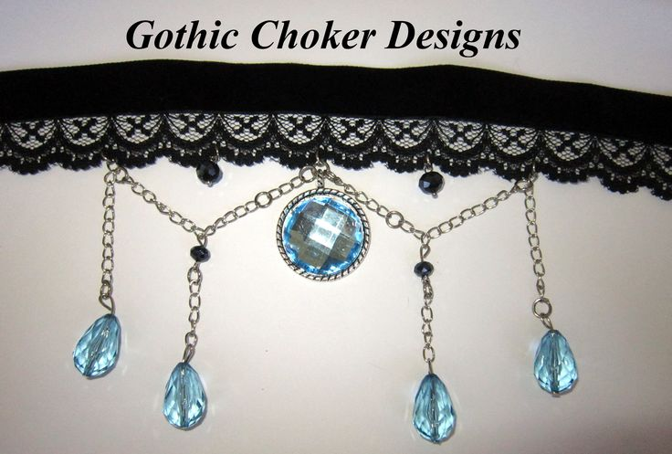 Black velvet and lace ribcage choker with spider charm and black chains and crystals. R180 approx $18. https://hellopretty.co.za/gothic-choker-designs/ribcage-and-chains-choker