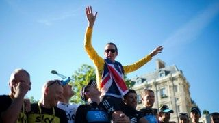 """awesome Five-time Olympic gold medalist and former Tour de France winner Bradley Wiggins and Team Sky crossed an """"ethical line"""" by using drugs to enhance performance and not just to treat medical need, a damning report by lawmakers said : olympics"""