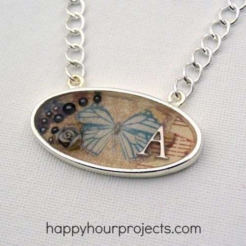 33 best how to make resin jewelry images on pinterest jewelry vintage resin necklace via happyhourprojects resin artresin craftsjewelry craftsjewelry ideasdiy solutioingenieria Choice Image