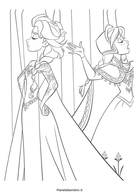 84 Disegni Da Colorare Di Frozen 1 E 2 Elsa Coloring Pages