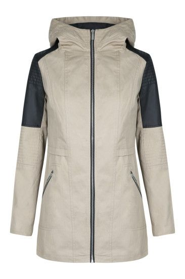 Raincoat With Faux Leather #TALLYWEiJL