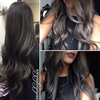 black and silver hair - Pesquisa Google
