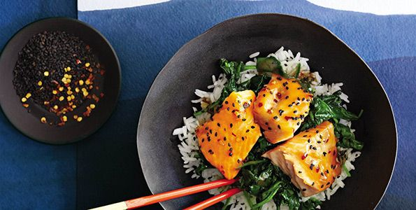 Nutritious Asian Salmon Bowl with Lime Drizzle