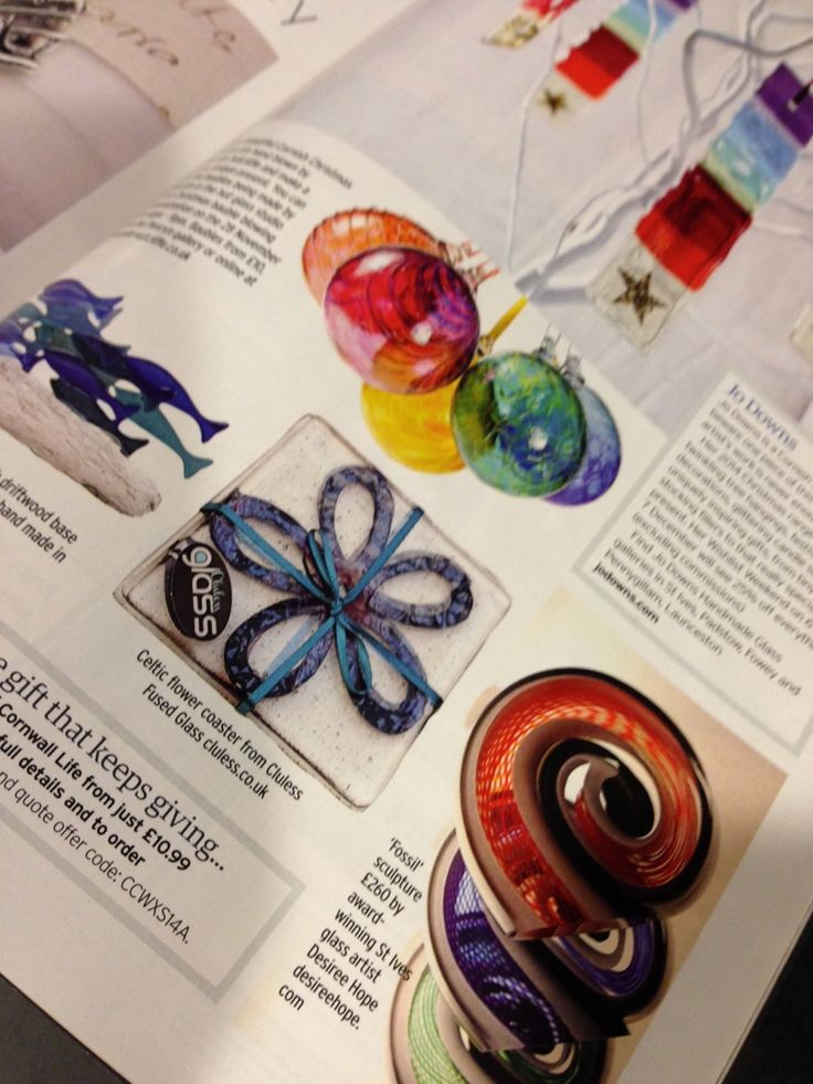 A special piece in the Christmas edition of Cornwall Living! #ClulessFusedGlass