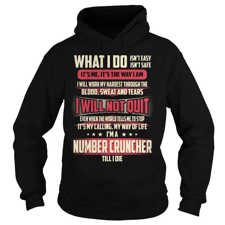Number Cruncher What I do Job Title TShirt