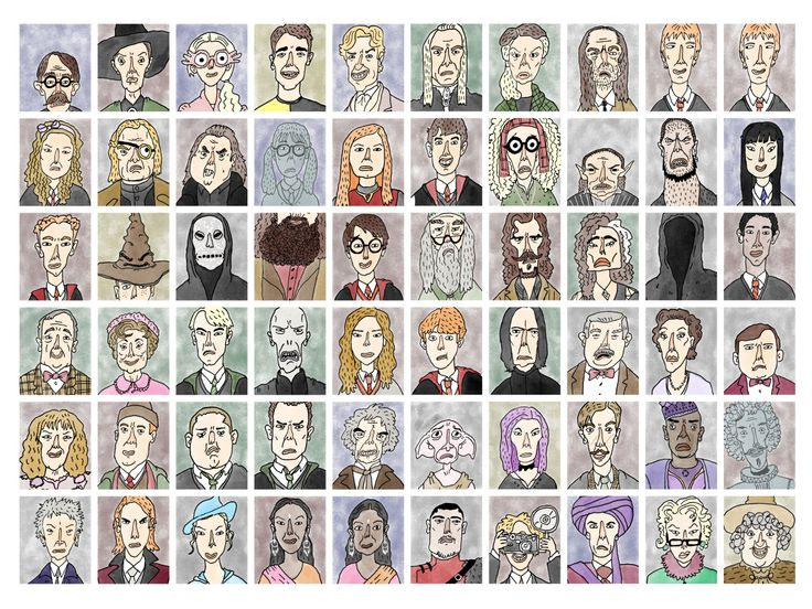 Harry Potter - Pop Culture Portraits by Curtis Rosenthal