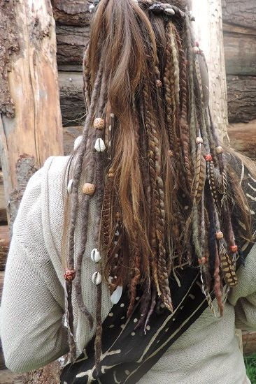 Natural Brown Dreadlock One Felted Double Ended by tinkertailoruk