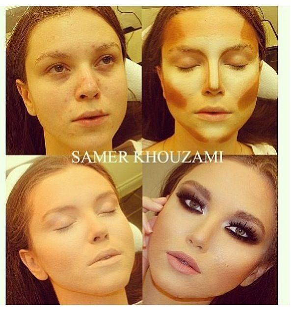 Make up Before and After Antes e Depois Maquiagem Transformação   Instagram: @misspinkbrazil