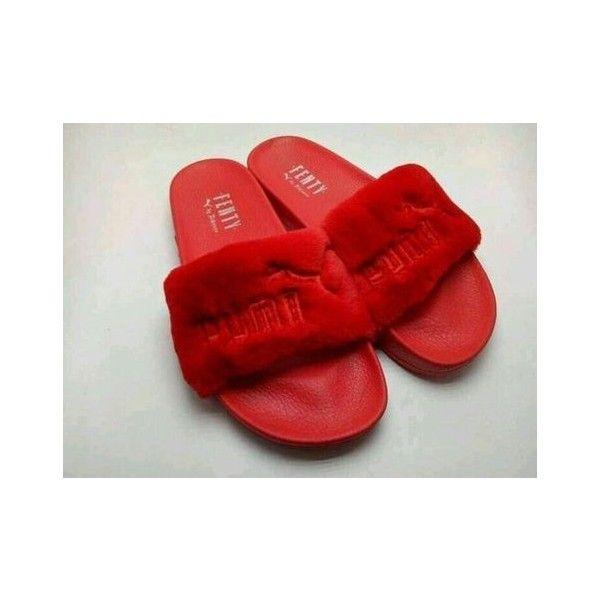 reputable site a8e1c ce62c wholesale puma fenty slippers red 7e843 5453a
