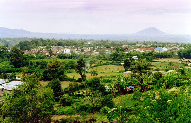 View of the Berastagi countryside.