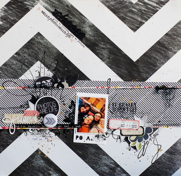#papercraft #scrapbook #layout   friends by binka at @Studio_Calico