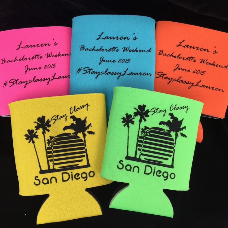Stay Classy San Diego Bachelorette Party Favors by HeadyMementos on Etsy