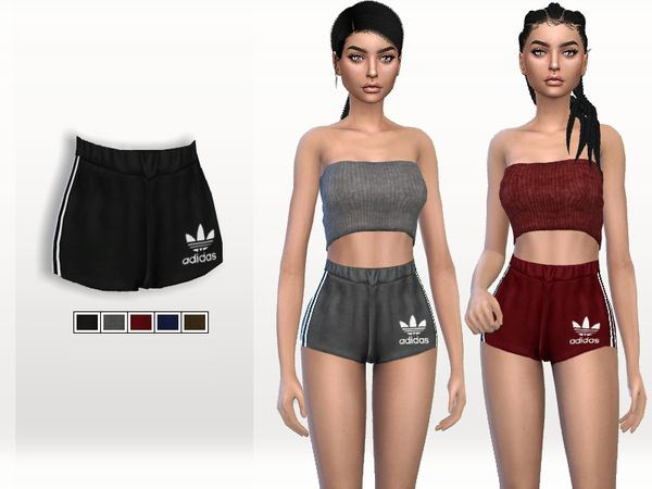 Escalera vendedor Escribe email  The Sims 4 Adidas Sporty Shorts | Sims 4 mods clothes, Sims 4 clothing, Sims  4 dresses