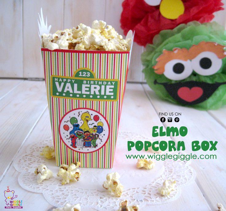 Elmo Popcorn Box. Visit us at www.wigglegiggle.com