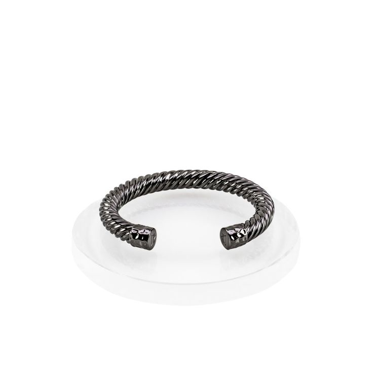 Atlantic Cable Cuff Bracelet - Hematite