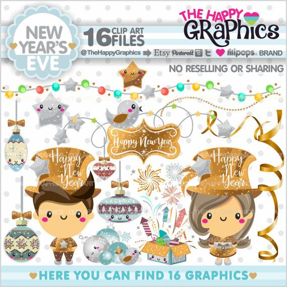 New Year's Eve Clipart 80%OFF Christmas Graphics