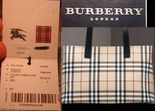 Burberry tag