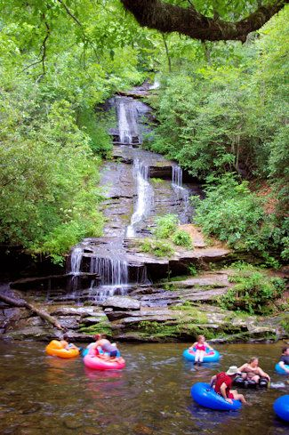 Deep Creek Tubing - Great Smoky Mountains, Bryson, North Carolina, USA