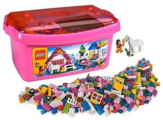 NEW Lego 5560 Large Pink Bucket Box Tub Girl 402 Pieces
