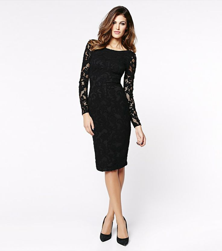 Lace Dress with Low Back