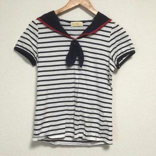 w closet(ダブルクローゼット)の新品!wcloset マリンTシャツ レディースのトップス(Tシャツ(半袖/袖なし))の商品写真