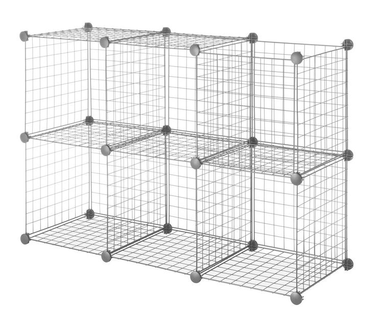 The Whitmor Black Wire Storage Cubes allow you to create your own storage solutions.