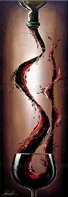 """Cedar Falls"" by © Leanne Laine Fine Art -  Pouring Red Wine Art __[LeanneLaineFineArt.com]"