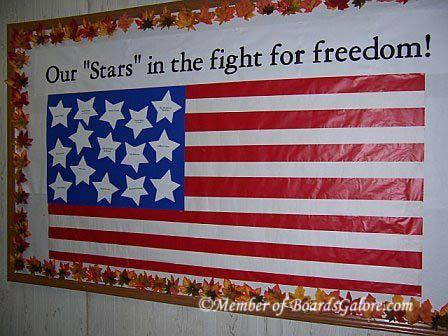 Veterans Day Bulletin Board Clroom Teacher School Www Operationwearehere