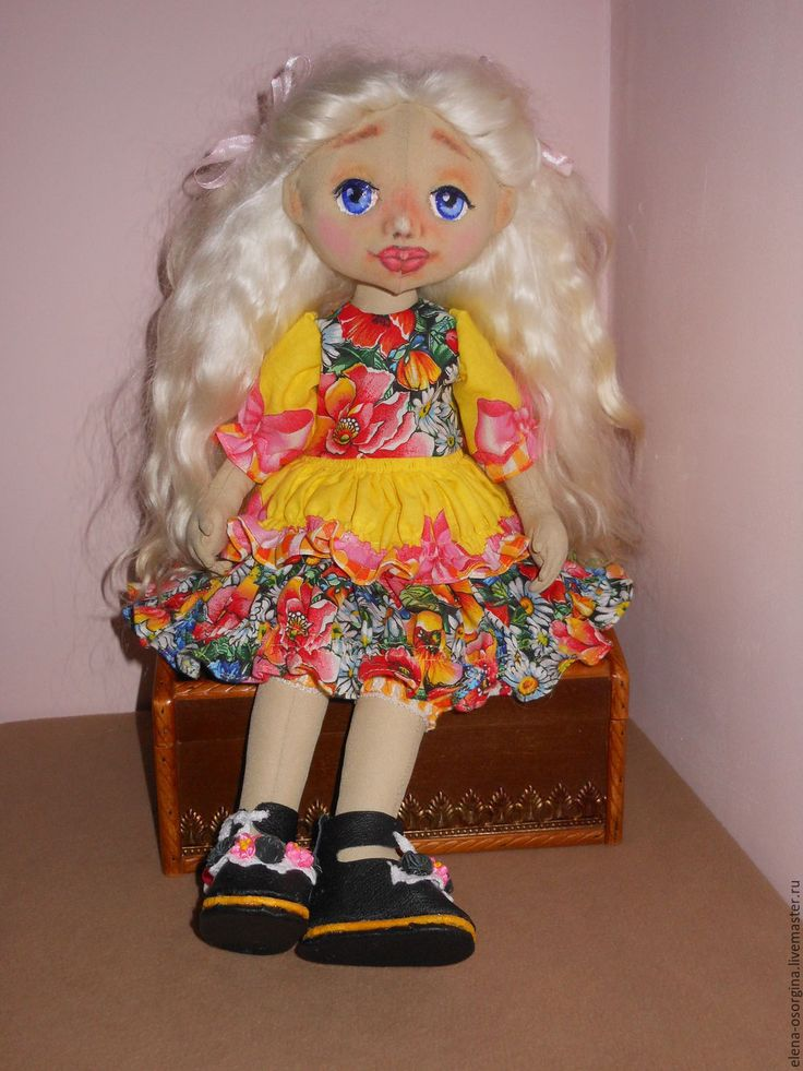 Купить Текстильная кукла - комбинированный, текстильные куклы, ручная работа купить, подарок на день рождения