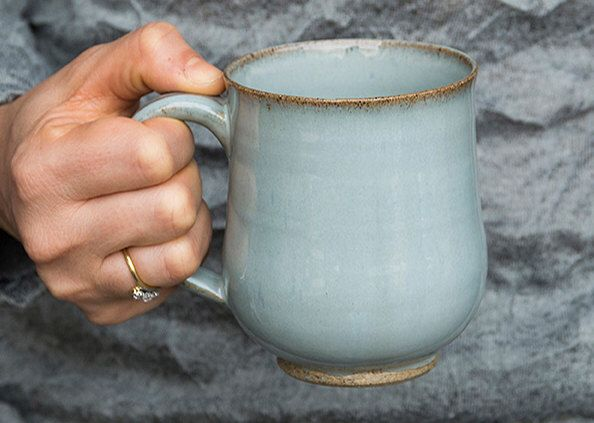 Teal Pottery Mugs / Stoneware Coffee Mugs / Ceramic Handmade Mug / MADE TO ORDER by MadAboutPottery on Etsy https://www.etsy.com/listing/222104346/teal-pottery-mugs-stoneware-coffee-mugs