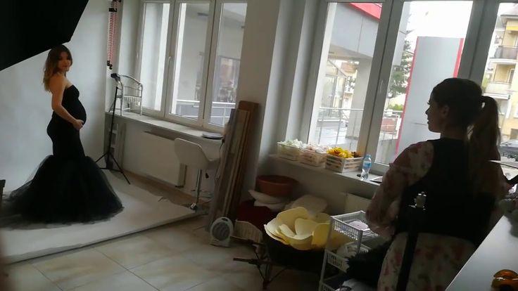 Sesja ciążowa w studio - behind the scenes maaternity session - studio F...