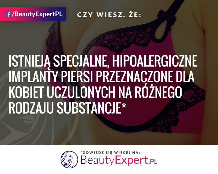 Jeżeli jesteś alergiczką a chcesz mieć większe piersi, to nic nie stoi na przeszkodzie! :) #BeautyExpert #PowiększaniePiersi #PowiększanieBiustu #CiekawostkiMedyczne
