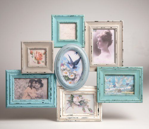Delilah Collage Photo Frame Hanging Shabby Chic 7 Photos new-vintage -multi-gift