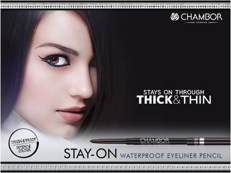 We present the Stay-On Waterproof Eyeliner Pencil - an intense, creamy textured, long lasting pencil that truly 'Stays On Through Thick & Thin' and gives you the perfect look in simply one stroke! Available now for Rs. 295/-.