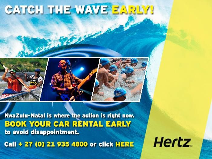 With everything that's happening in KZN at present, book your car rental early to avoid disappointment!