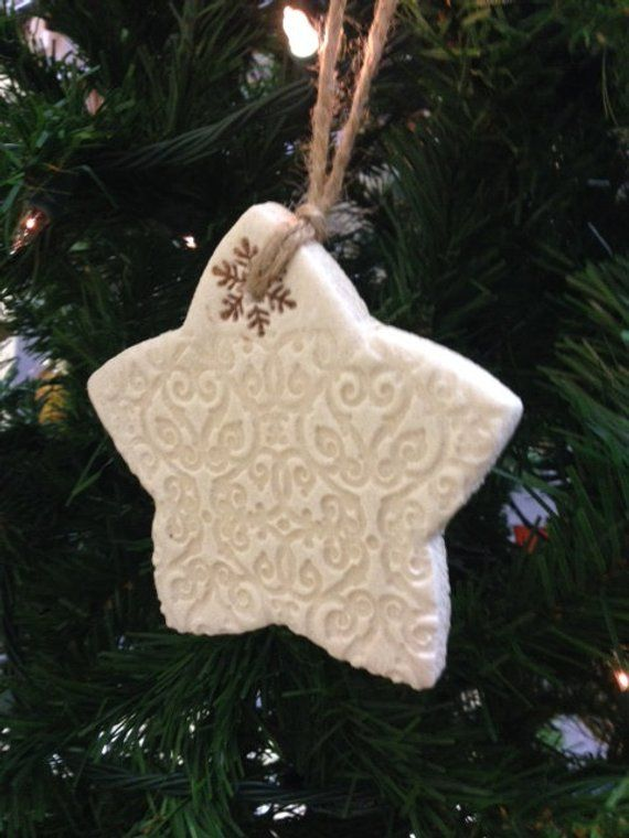 Rustic Salt Dough Christmas Star Ornament